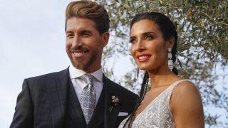 Pilar Rubio y Sergio Ramos el día de su boda / Gtres