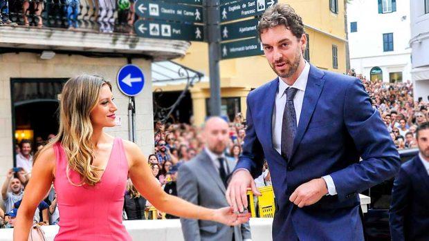 Pau Gasol y su mujer, Catherine McDonell /