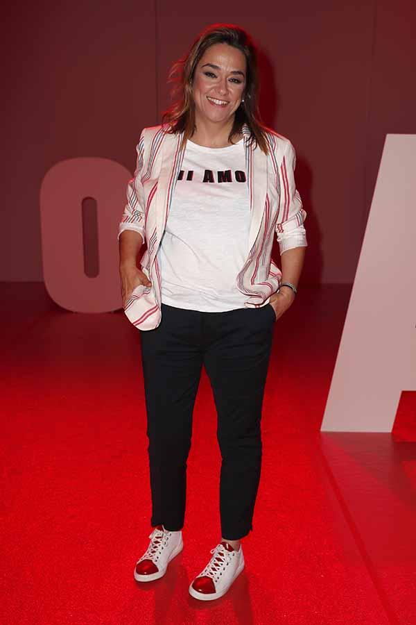 Toñi Moreno en su primera aparición pública tras conocerse su embarazo / GTRES