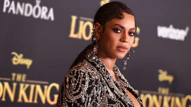 Beyoncé en la premiere de Los Ángeles de El Rey León