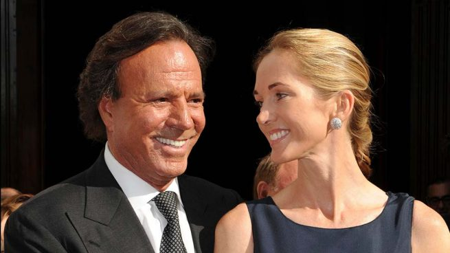 Julio Iglesias y su mujer Miranda Rijnsburger
