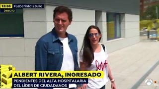 Albert Rivera y Malú, a la salida del hospital / Antena 3