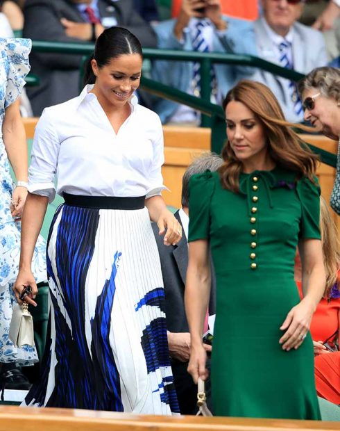 Kate Middleton y Meghan Markle durante la final femenina de Wimbledon / GTRES