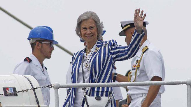 La Reina Sofía abordo del Juan Sebastián Elcano / GTRES