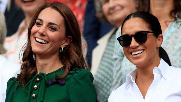 Meghan Markle y Kate Middleton durante la final femenina de Wimbledon / GTRES