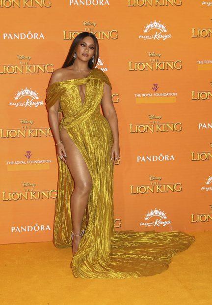 Beyoncé en el estreno de El Rey León