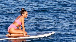 Aitana con bikini de Asos durante sus vacaciones en Ibiza / GTRES
