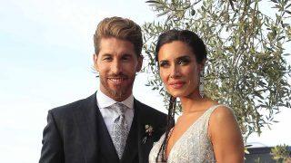 Sergio Ramos y Pilar Rubio el día de su boda / GTRES