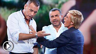 Chelo García-Cortés arremete contra Carlos Lozano y acaba dando un corte a su mujer Marta Roca / Gtres