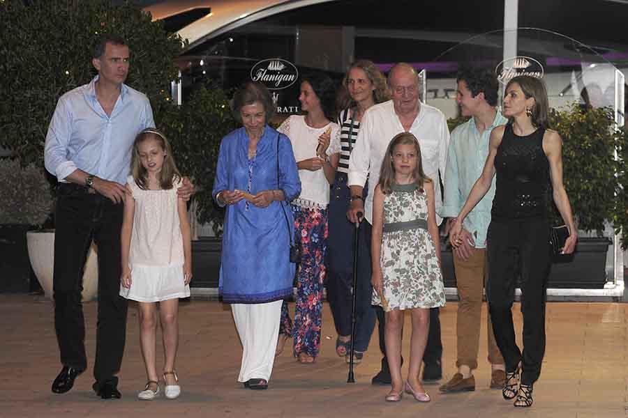 Posado familiar de la Familia Real en 2016, el último verano que Don Juan Carlos había estado en Mallorca / GTRES