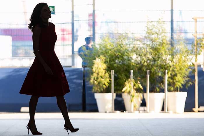 imagen en sombra de la reina Letizia