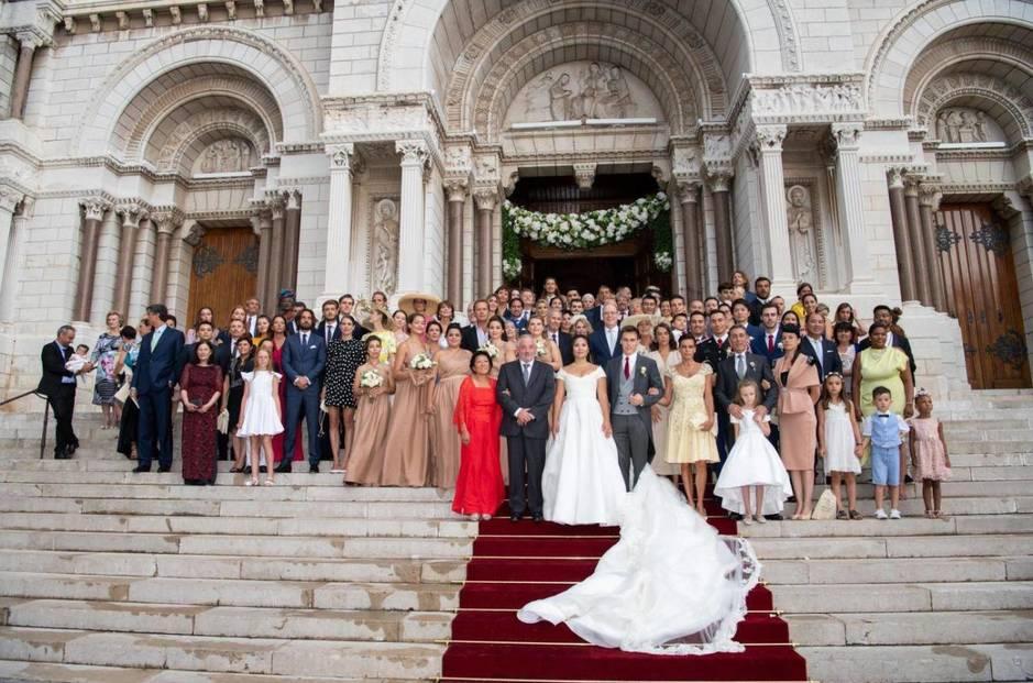 Las fotografías oficiales de la boda de Louis Ducruet y Marie Chevallier: un beso de película
