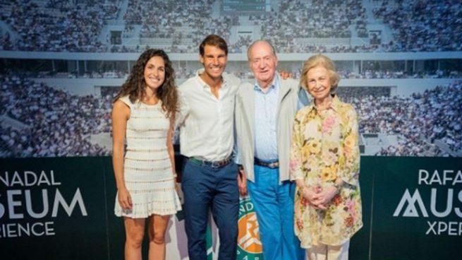 Rafa Nadal, orgulloso de la visita sorpresa de don Juan Carlos y doña Sofía