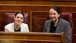 Pablo Iglesias e Irene Montero, durante una sesión del Congreso de los Diputados / Gtres.