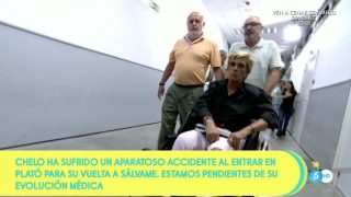 Chelo García-Cortés es hospitalizadas tras sufrir un aparatoso accidente / Mediaset