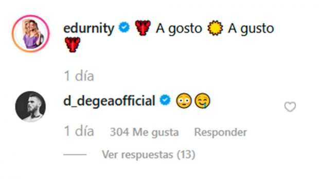 David de Gea Edurne Instagram