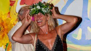 Ana Duato fue una de las invitadas a la fiesta de Flower Power de Ibiza / Gtres