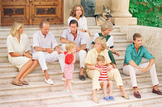 El príncipe Carlos y Diana