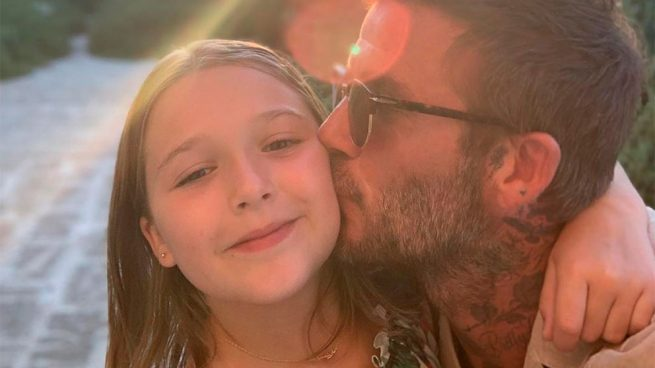Harper Seven y David Beckham