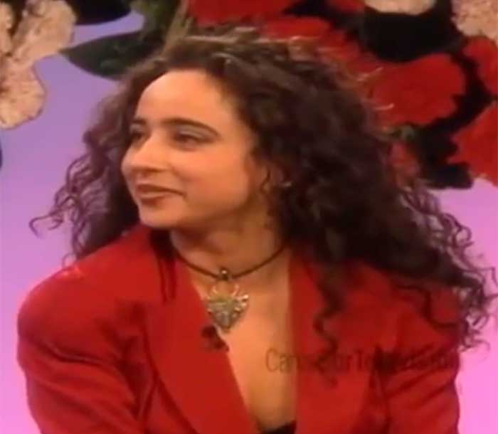María Patiño en su primera aparición en televisión buscando pareja