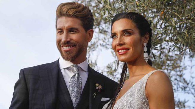 Pilar Rubio y Sergio Ramos durante el día de su boda / GTRES