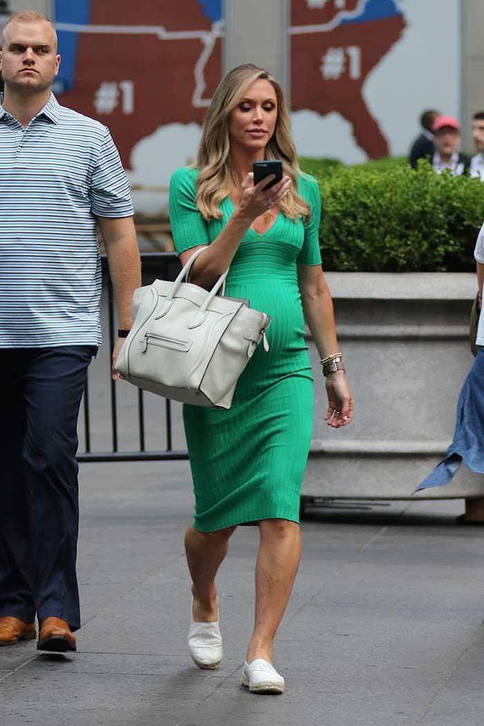 Lara Trump embarazada con vestido de Zara / Gtres