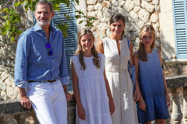 rey Felipe, reina Letizia, infanta Sofía, princesa Leonro