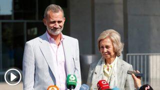 El rey Felipe VI ha atendido a los medios de comunicación / Okdiario-Gtres.