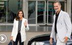 El rey Felipe y la reina Letizia destacan el buen ánimo de don Juan Carlos