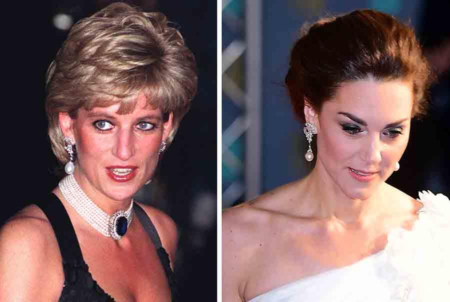 Kate Middleton luciendo para una noche de gala unos de los pendientes favoritos de la Princesa Diana / GTRES