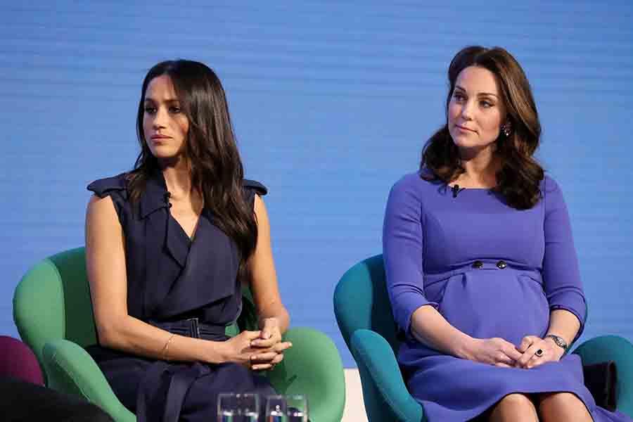 Meghan Markle y Kate Middleton durante su primer acto solidario conjunto / GTRES