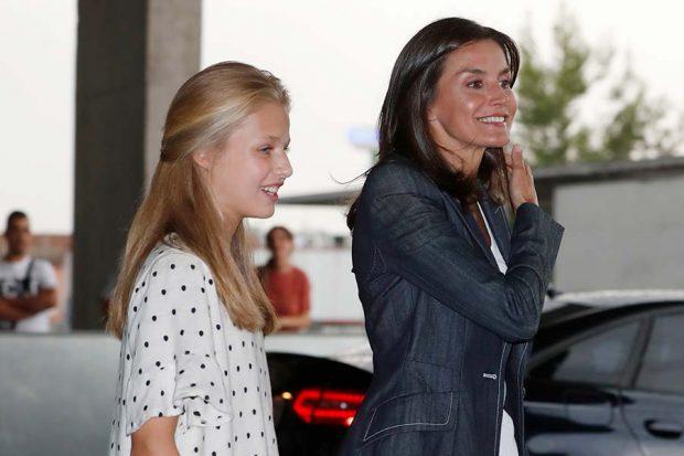 La princesa Leonor y la reina Letizia