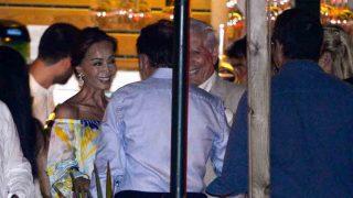 Isabel Preysler y Mario Vargas Llosa durante la fiesta previa a la boda de Manuel Valls / GTRES