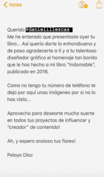 El monumental cabreo de Pelayo con Daniel Illescas: le acusa de plagio