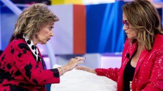 María Teresa Campos y Toñi Moreno, de nuevo juntas en un plató de televisión./Telemadrid