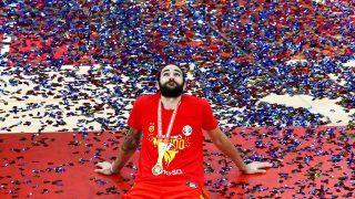 Ricky Rubio, tras proclamarse campeón del mundo / Gtres