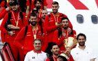 Así ha sido la triunfal llegada a España de los ganadores del Mundial de Baloncesto