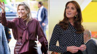 A la izquierda, Máxima de Holanda. A la derecha, Kate Middleton / Gtres