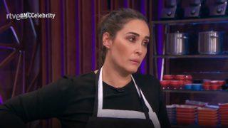 Vicky Martín Berrocal, visiblemente molesta en 'MasterChef Celebrity'. / RTVE