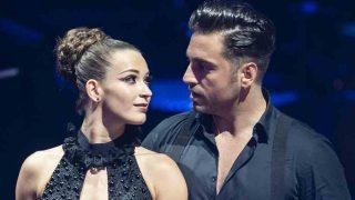 Yana Olina y David Bustamante durante una de sus primeras actuaciones juntos / GTRES