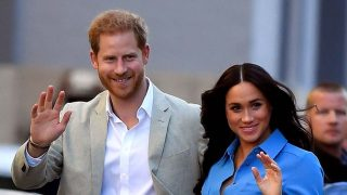 Meghan Markle junto al príncipe Harry en su gira africana /Gtres