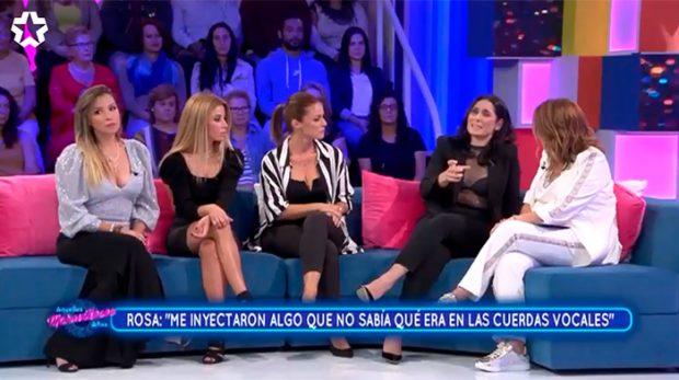 Toñi Moreno, Rosa López, Geno Machado, Natalia Rodríguez y Gisela