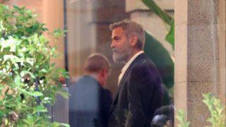 George Clooney durante el rodaje en Madrid /Gtres