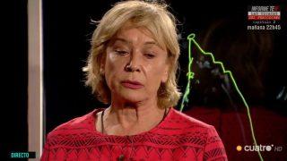 Mila Ximénez, embriagada por las emociones en su «curva de la vida»./Mediaset