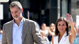 Don Felipe y doña Letizia, a su llegada a Arganda del Rey / Gtres