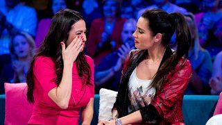 Karen Parra y Pilar Rubio en un momento del programa 'Aquellos maravillosos años' / Gtres