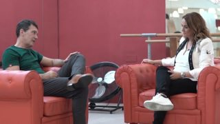 Antonio Banderas y Toñi Moreno durante la entrevista / Canal Sur