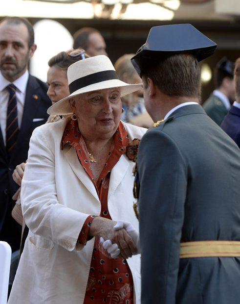 Pilar de Borbón durante la fiesta de la Guardia Civil 2019 / Gtres