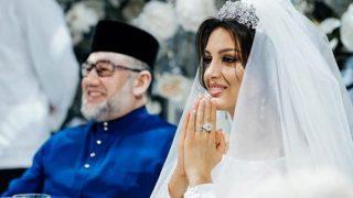 El rey de Malasia junto a la modelo rusa el día de su boda /Instagram