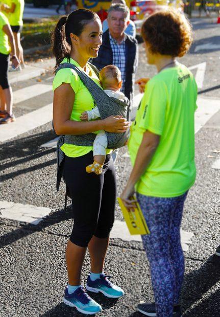 Begoña Villacís ha acudido con su hija Inés a la carrera de las 'malasmadres' / Gtres